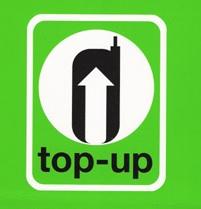 TOP UP可能な店舗のマーク