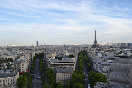 パリ,凱旋門,屋上