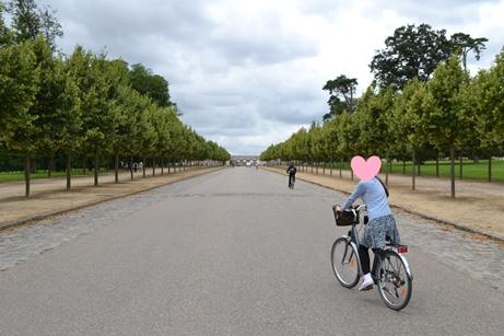 ヴェルサイユ宮殿で自転車