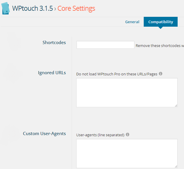 WPtouch_Core Settings(Compatibility)_