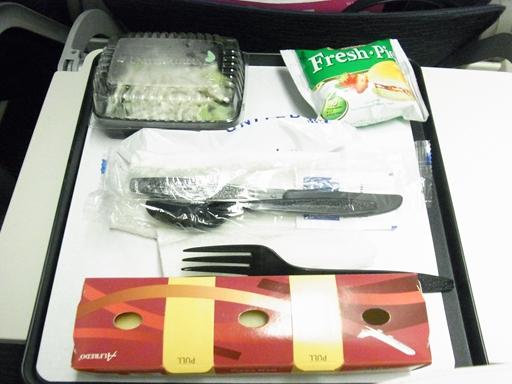 ユナイテッド航空 機内食