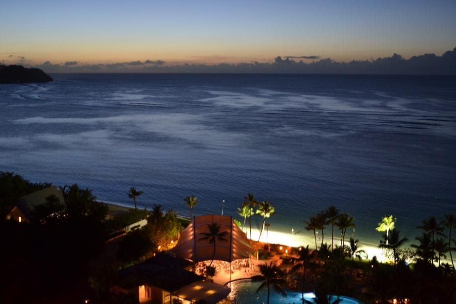 グアム ハイアットから見た夜景