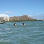 ハワイ到着からのワイキキ・ビーチを少し満喫